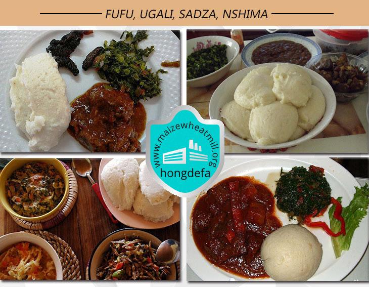 Fufu Ugali maize flour