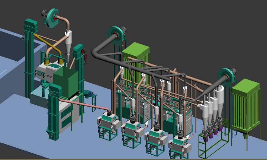 20T maize mill 3D-1