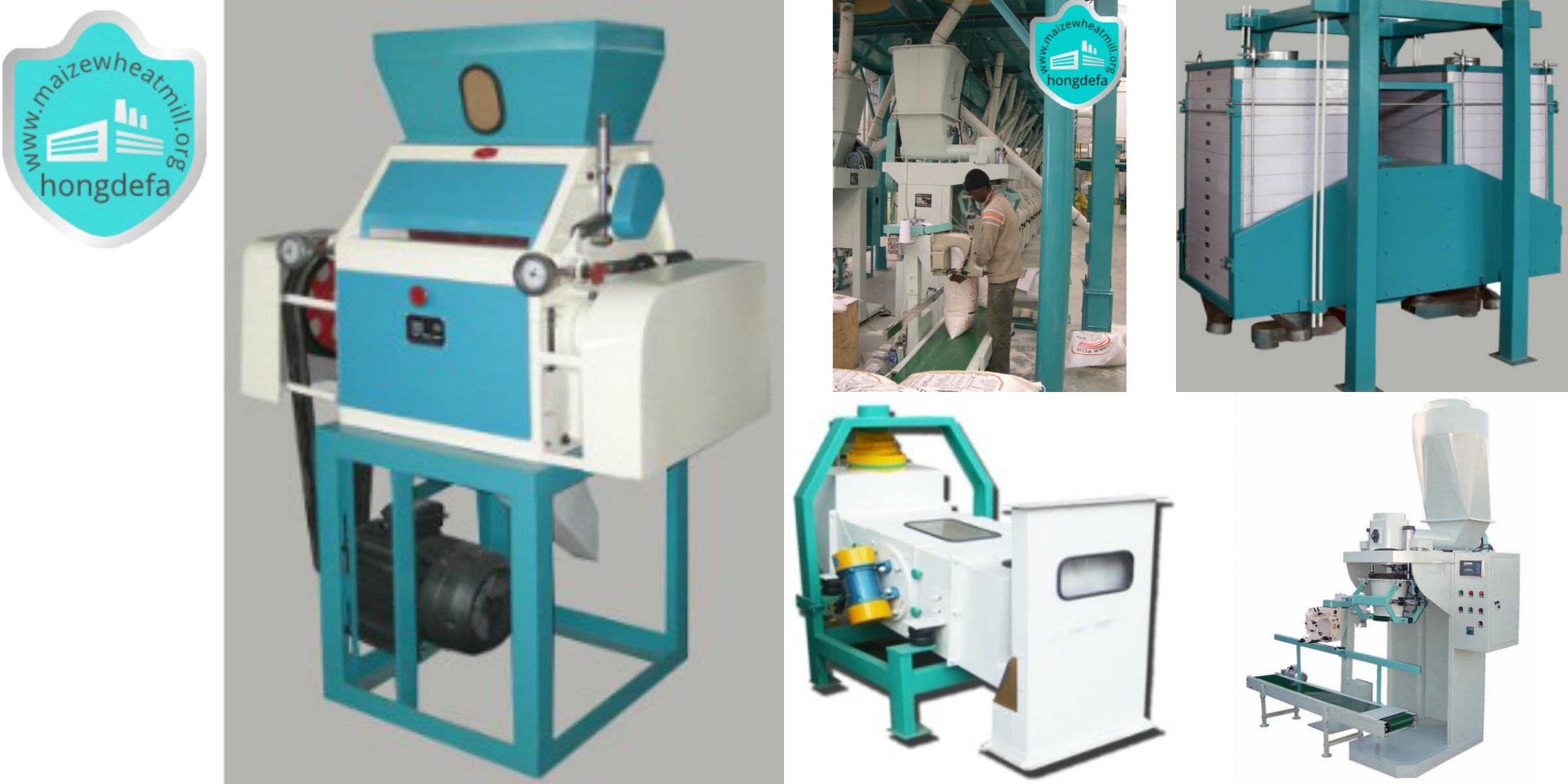 (roller mill,auto-packing machine,maize cleaner and sifter)