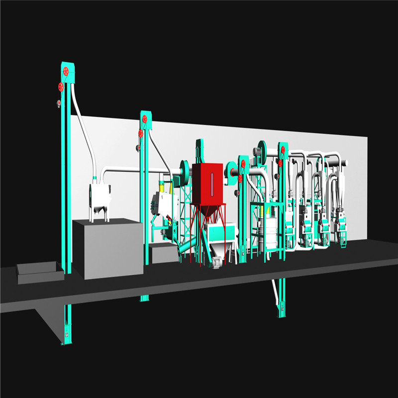 3D image of the 30T/24hr maize hammer milling machine