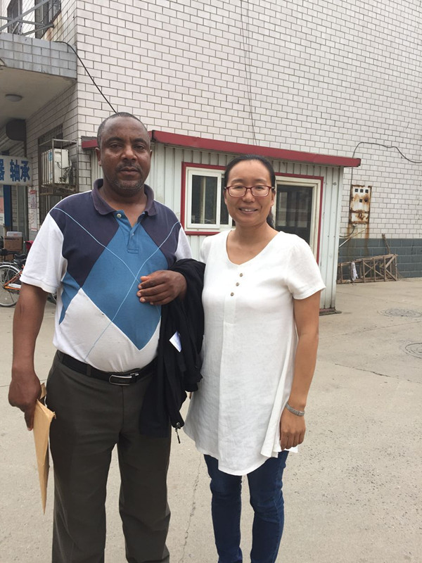 Ethiopian client visits our factory