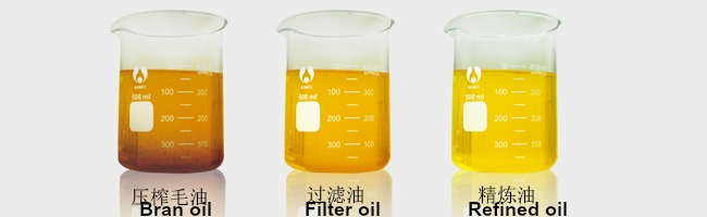 Crude oil Filtered oil Refined oil edt