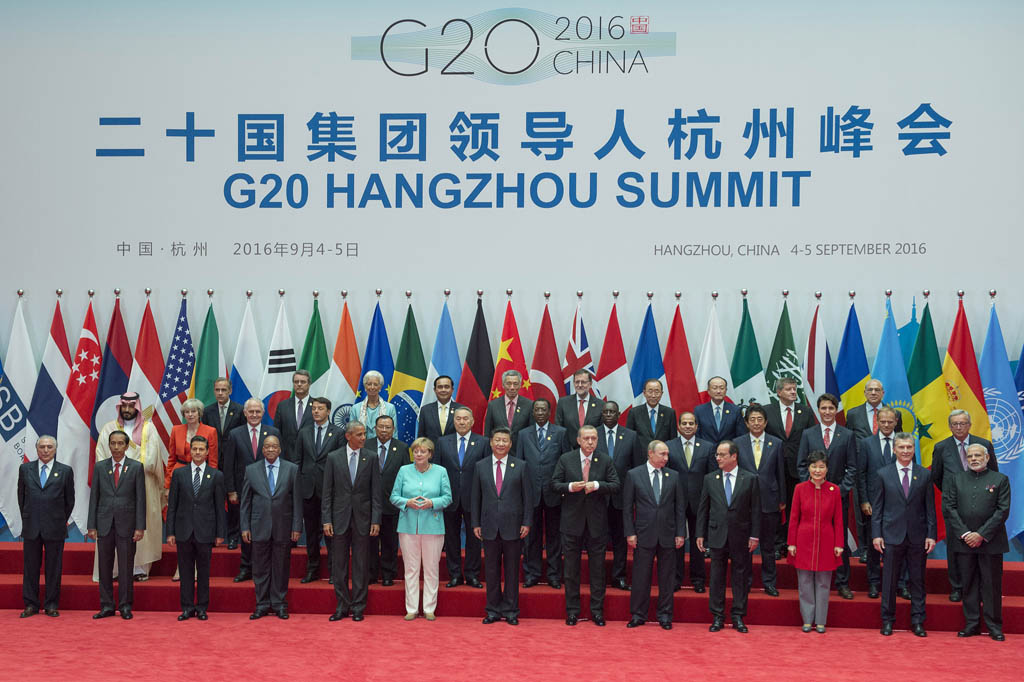 President Xi welcomes presidents attending the G20 summit