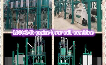 100t/24h maize flour mill machine
