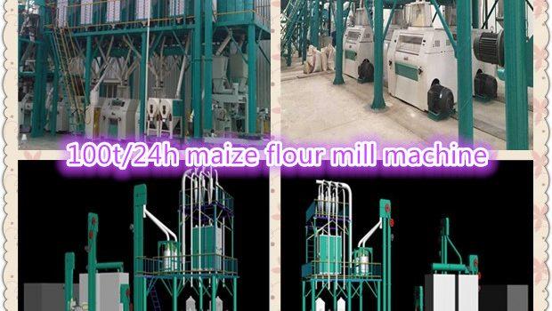 100t/24h maize flour mill machine