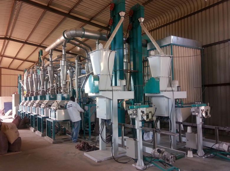 50t corriente de molino/molienda de maíz en Zambia