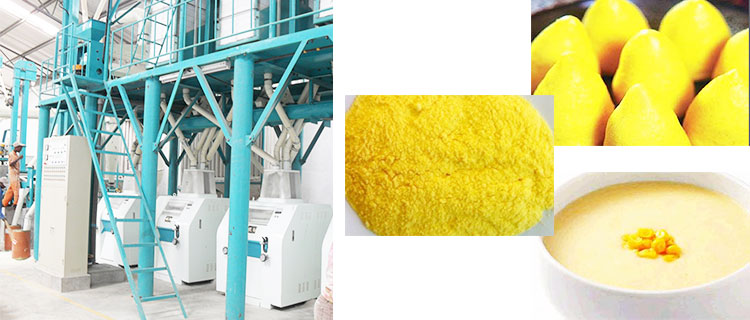 maize flour from maize mill machine