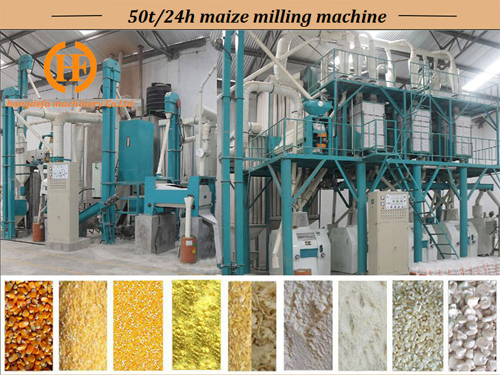 50t maize milling machine