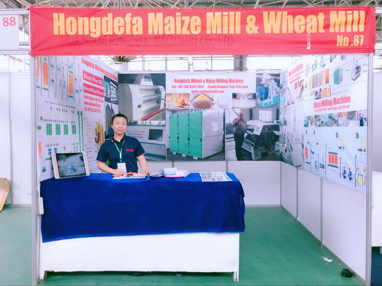 Lila in Saba saba trade fair