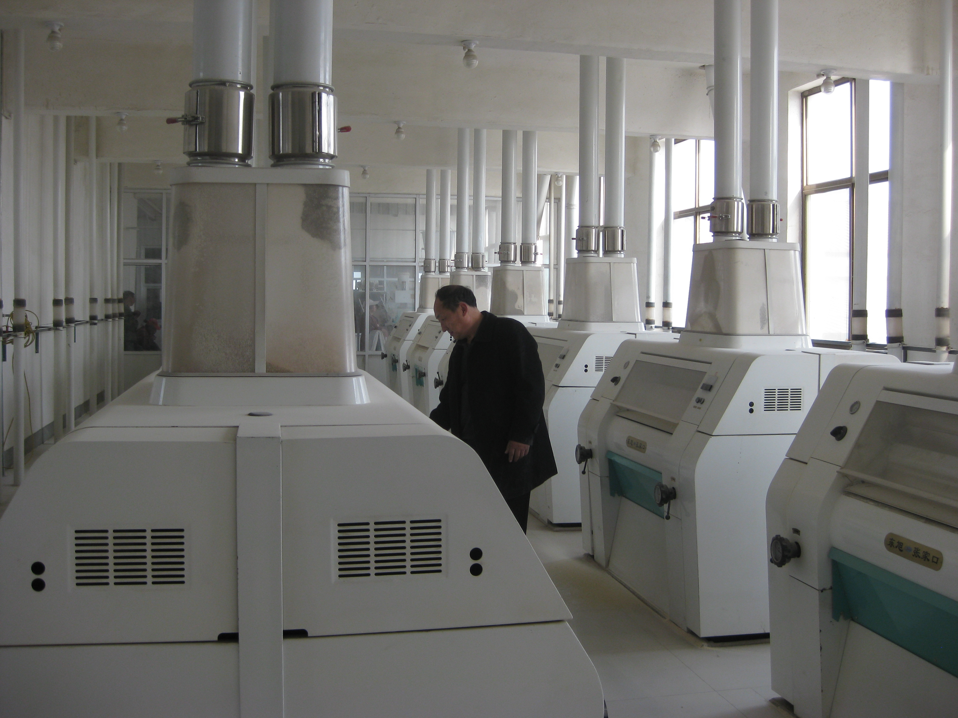 installation of the 200T wheat flour grinding mill project