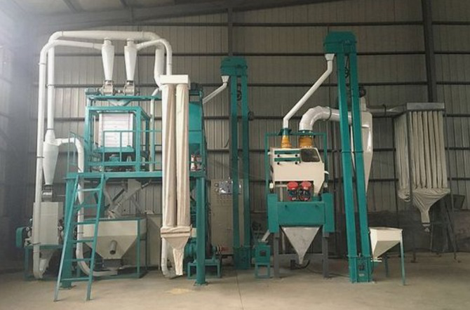 12. 10T maize milling machine in Hongdefa Factory