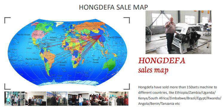 Hongdefa sales Map