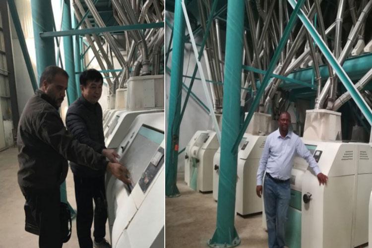 Fábrica de farinha de milho EM África do Sul