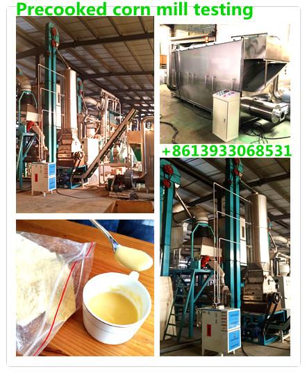 precooked corn mill testing